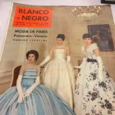 Coleccionismo de Revista Blanco y Negro: REVISTA BLANCO Y NEGRO 1959, REPORTAJES: ESPECIAL MODA PARIS, I VARIOS REPORTAJES MAS.... Lote 214118222