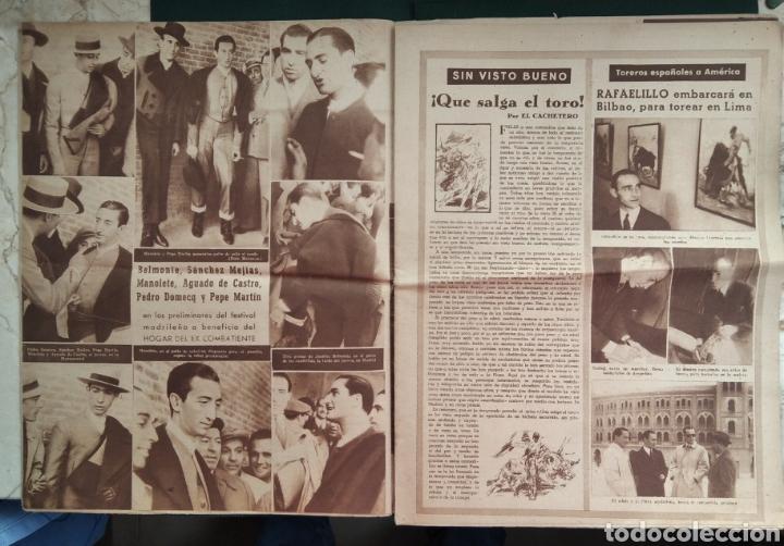 Coleccionismo de Revista Blanco y Negro: PERIÓDICO TAURINO EL RUEDO AÑO 1944, N°.21. - Foto 3 - 218074166