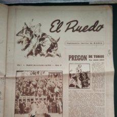 Coleccionismo de Revista Blanco y Negro: PERIÓDICO TAURINO EL RUEDO AÑO 1944, N°.21.. Lote 218074166