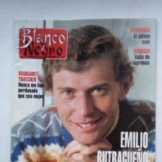 Coleccionismo de Revista Blanco y Negro: REVISTA BLANCO Y NEGRO. Nº 3880. EMILIO BUTRAGUEÑO. 7 NOVIEMBRE 1993. TDKC75. Lote 218211801