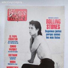 Collectionnisme de Magazine Blanco y Negro: BLANCO Y NEGRO. 14 DE AGOSTO DE 1994, ENTREVISTA EXCLUSIVA ROLLING STONES. TDKC75. Lote 218220010