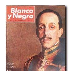 Coleccionismo de Revista Blanco y Negro: BLANCO Y NEGRO Nº 2808: HACE 25 AÑOS QUE MURIÓ ALFONSO XIII. Lote 219228432