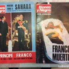 Coleccionismo de Revista Blanco y Negro: REVISTA BLANCO Y NEGRO FRANCO MUERTO Y EL PRINCIPE Y FRANCO. Lote 221813197