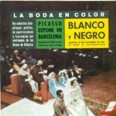Coleccionismo de Revista Blanco y Negro: FABIOLA Y BALDUINO BODA EN COLOR DE LA REVISTA BLANCO Y NEGRO DE 24 DICIEMBRE DE 1.960. Lote 222996225
