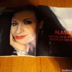 Coleccionismo de Revista Blanco y Negro: ENTREVISTA A ALASKA . MADONNA. REVISTA BLANCO Y NEGRO N° 3639 . MARZO AÑO 1989. Lote 223278370