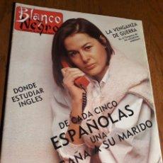 Coleccionismo de Revista Blanco y Negro: REVISTA BLANCO Y NEGRO N° 3586 MARZO DE 1988 DE CADA 5 ESPAÑOLAS 1 ENGAÑA AL MARIDO ..ALASKA .1988. Lote 223282230