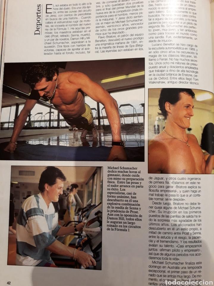 Coleccionismo de Revista Blanco y Negro: REPORTAJE DE LA LOCOMOTORA ALEMANA MICHAEL SCHUMACHER . 4 PAGINAS . AÑO 1994 - Foto 2 - 223487757