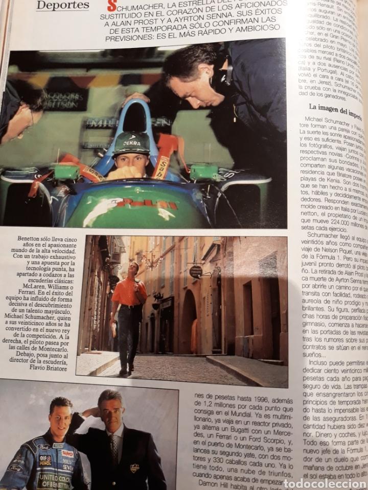 Coleccionismo de Revista Blanco y Negro: REPORTAJE DE LA LOCOMOTORA ALEMANA MICHAEL SCHUMACHER . 4 PAGINAS . AÑO 1994 - Foto 3 - 223487757