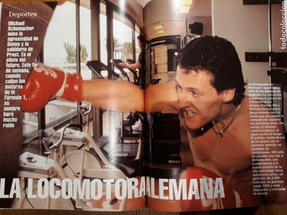 REPORTAJE DE LA LOCOMOTORA ALEMANA MICHAEL SCHUMACHER . 4 PAGINAS . AÑO 1994 (Coleccionismo - Revistas y Periódicos Modernos (a partir de 1.940) - Blanco y Negro)