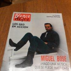 Coleccionismo de Revista Blanco y Negro: REVISTA BLANCO Y NEGRO N° 3589 .MIGUEL BOSE . AMPARO MUÑOZ . LOS RONALDOS . AÑO 1988. Lote 223843111