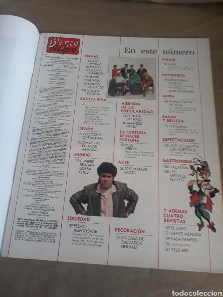 Coleccionismo de Revista Blanco y Negro: REVISTA BLANCO Y NEGRO N°3596. 1988 ELECCIONES CATALANAS. PEDRO ALMODÓVAR. MONTSERRAT CABALLE - Foto 2 - 223933388