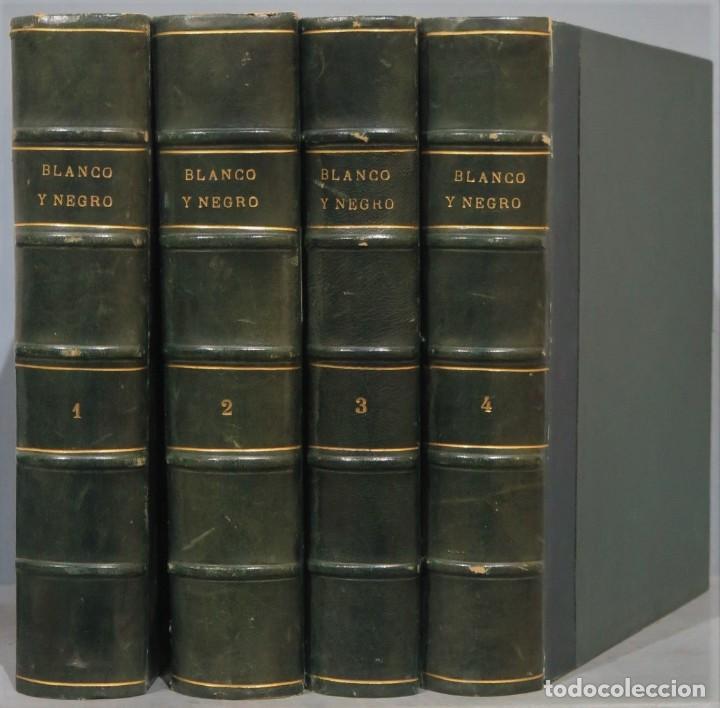 BLANCO Y NEGRO. 4 TOMOS. DESDE 11 MAYO 1957 A DICIEMBRE (Coleccionismo - Revistas y Periódicos Modernos (a partir de 1.940) - Blanco y Negro)