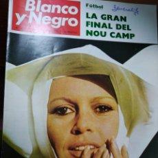 Coleccionismo de Revista Blanco y Negro: REVISTA BLANCO Y NEGRO. Nº 3035 - 1970 EL GENERALIFE. BRIGITTE BARDOT MONJA. LA GRAN FINAL NOU CAMP. Lote 227173030