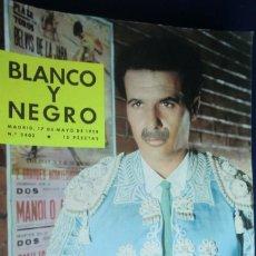 Coleccionismo de Revista Blanco y Negro: REVISTA BLANCO Y NEGRO Nº 2402- MAYO 1958 LOS TOROS EN EL ARTE POR GREGORIO CORROCHANO. Lote 233860200