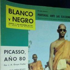 Colecionismo de Revistas Preto e Branco: REVISTA BLANCO Y NEGRO Nº 2584 - 1961 PICASSO, AÑO 80. EL REY DE TAILANDIA. PORTUGAL ANTE ELECCIONES. Lote 233866350
