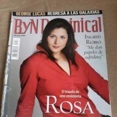 Coleccionismo de Revista Blanco y Negro: REVISTA 2002 . ROSA LÓPEZ - HISTORIA DE EUROVISIÓN- GEORGE LUCAS REGRESA A LAS GALAXIAS- JIM KERR. Lote 244863535