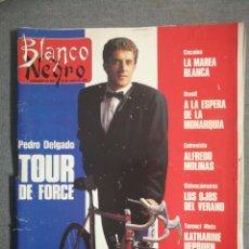 Coleccionismo de Revista Blanco y Negro: BLANCO Y NEGRO 3652 1989. COCAÍNA, MARIBEL VERDÚ, THE CURE, KATHARINE HEPBURN, PEDRO DELGADO.. Lote 245648425