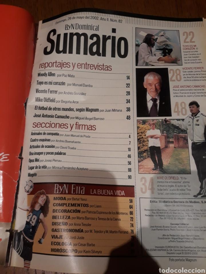 Coleccionismo de Revista Blanco y Negro: REVISTA 2002 . WOODY ALLEN - VICENTE FERRER - MUNDIAL DE FUTBOL 2002. EL FUTBOL DE OTROS MUNDOS - Foto 2 - 246088270