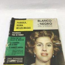 Coleccionismo de Revista Blanco y Negro: REVISTA BLANCO Y NEGRO Nº 2537, 1960 FABIOLA REINA DE LOS BELGAS,. Lote 246658445