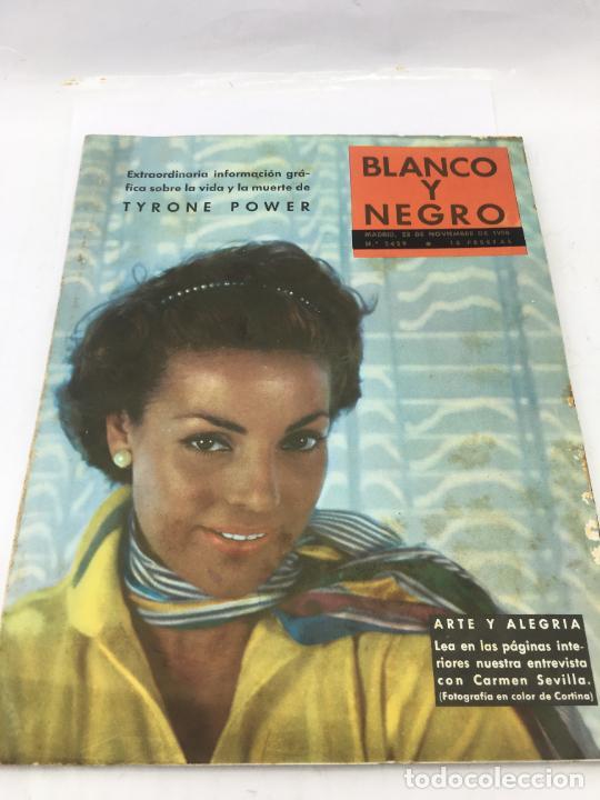REVISTA BLANCO Y NEGRO Nº 2429 1958, CARMEN SEVILLA, ARTE Y ALEGRIA (Coleccionismo - Revistas y Periódicos Modernos (a partir de 1.940) - Blanco y Negro)
