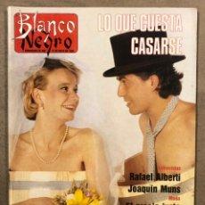 Coleccionismo de Revista Blanco y Negro: BLANCO Y NEGRO N° 3646 (1989). MÓNICA MOLINA, JENNY LLADA, RAFAEL ALBERTI, CARLOS HERRERA,.... Lote 255567895
