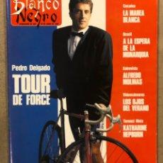Collectionnisme de Magazine Blanco y Negro: BLANCO Y NEGRO N° 3652 (1989). PERICO DELGADO, THE CURE, MARIBEL VERDÚ, KATHERINE HEPBURN,..,. Lote 255568900