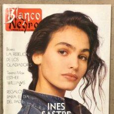 Coleccionismo de Revista Blanco y Negro: BLANCO Y NEGRO N° 3637 (1989). INÉS SASTRE, MIKEL ERENTXUN, RADIO FUTURA, DRAZEN PETROVIC, BOXEO. Lote 255571420