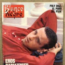 Coleccionismo de Revista Blanco y Negro: BLANCO Y NEGRO N° 3630 (1989). EROS RAMAZZOTTI, POLI DÍAZ, JULIO IGLESIAS, ALONSO DE SANTOS,... Lote 255572715