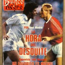 Coleccionismo de Revista Blanco y Negro: BLANCO Y NEGRO N° 3635 (1989). REAL MADRID VS PSV EINDHOVEN, RONALD KOEMAN, REY LUI, MICHELLE PFEIFF. Lote 255575180
