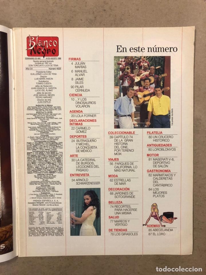 Coleccionismo de Revista Blanco y Negro: BLANCO Y NEGRO N° 4025 (1996). BUTRAGUEÑO Y MICHEL A MÉXICO, LOLA FORNER, CARMELO GÓMEZ,.... - Foto 2 - 255577480