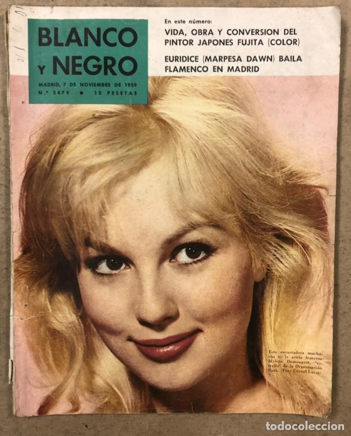 BLANCO Y NEGRO N° 2479 (1959). EURIDICE (MARPESA DAWN) BAILA FLAMENCO EN MADRI, FUJITA,... (Coleccionismo - Revistas y Periódicos Modernos (a partir de 1.940) - Blanco y Negro)