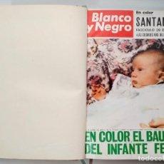 Coleccionismo de Revista Blanco y Negro: REVISTA BLANCO Y NEGRO BAUTIZO DEL INFANTE FELIPE 1968, FASCICULOS ENCUADERNADOS. Lote 257492770