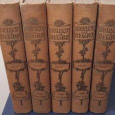 Coleccionismo de Revista Blanco y Negro: REVISTA BLANCO Y NEGRO ☆ 5 LIBROS ☆ 10 MESES DEL ANO 1958 ☆. Lote 261575630