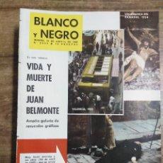 Coleccionismo de Revista Blanco y Negro: MFF.- REVISTA BLANCO Y NEGRO.- Nº 2606 DE 14 ABRIL 1962.- JUAN BELMONTE, EL ULTIMO COLOSO DEL TOREO,. Lote 261936175