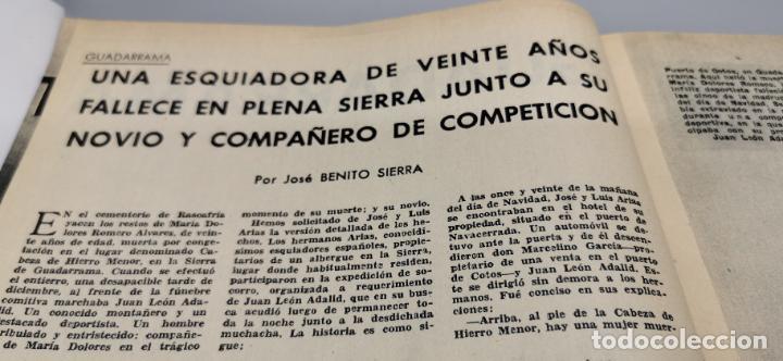 Coleccionismo de Revista Blanco y Negro: Tragedia en Guadarrama año 1962 esquiadora de 20 años fallece en plena sierra junto a su novio - Foto 3 - 262918760