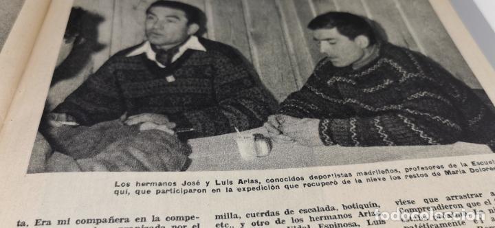 Coleccionismo de Revista Blanco y Negro: Tragedia en Guadarrama año 1962 esquiadora de 20 años fallece en plena sierra junto a su novio - Foto 6 - 262918760