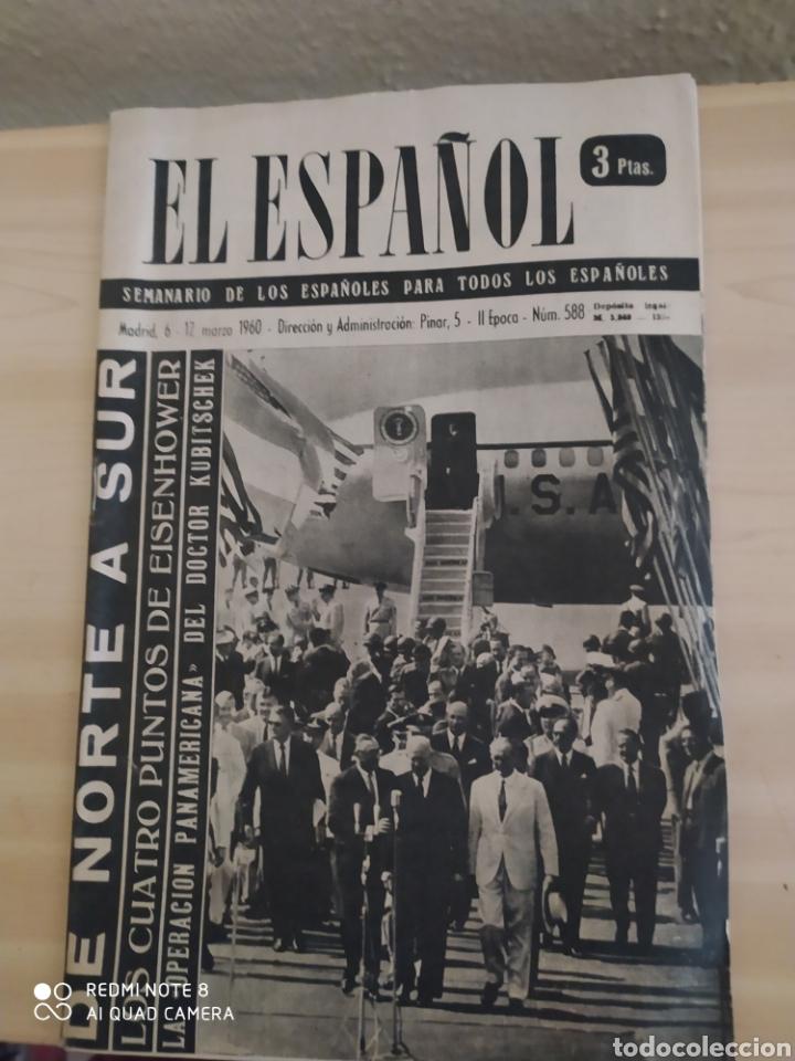 REVISTA ANTIGUA EL ESPAÑOL. NÚMERO 588.AÑO 1960 (Coleccionismo - Revistas y Periódicos Modernos (a partir de 1.940) - Blanco y Negro)