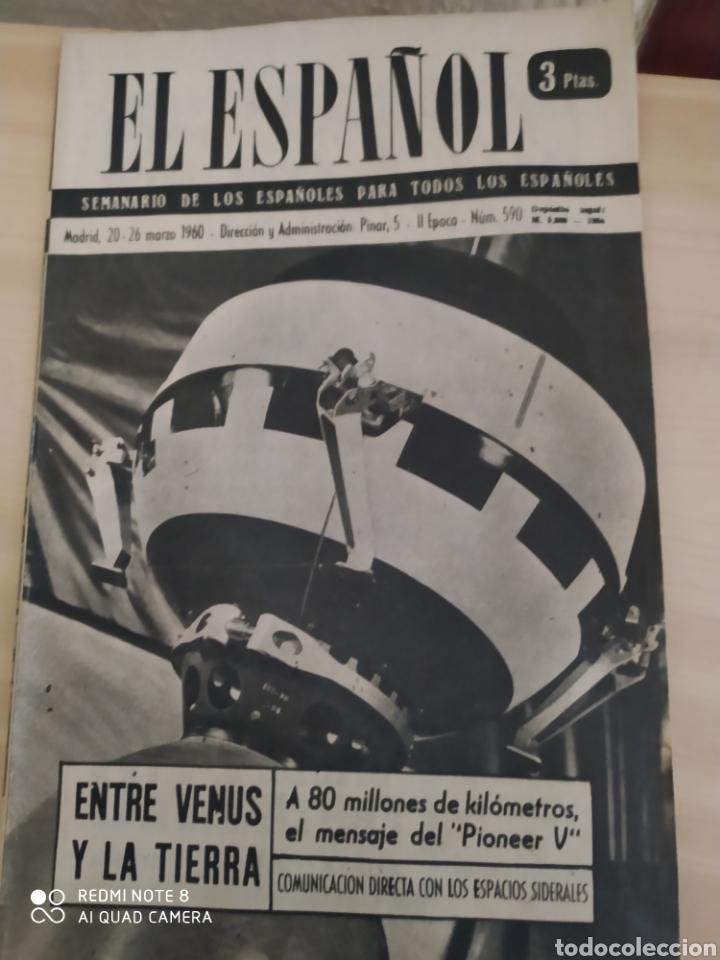 REVISTA ANTIGUA EL ESPAÑOL. NÚMERO 590. AÑO 1960 (Coleccionismo - Revistas y Periódicos Modernos (a partir de 1.940) - Blanco y Negro)