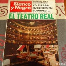 Coleccionismo de Revista Blanco y Negro: BLANCO Y NEGRO Nº 2844, EL TEATRO REAL. Lote 264493279