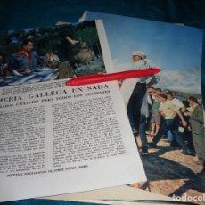 Coleccionismo de Revista Blanco y Negro: RECORTE : ROMERIA GALLEGA EN SADA. BLANCO Y NEGRO, OCTBRE 1960(#). Lote 268583264