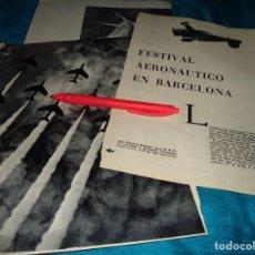 Coleccionismo de Revista Blanco y Negro: RECORTE : FESTIVAL AERONAUTICO EN BARCELONA. BLANCO Y NEGRO, OCTBRE 1960(#). Lote 268583469