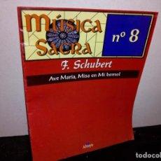 Coleccionismo de Revista Blanco y Negro: 25- MÚSICA SACRA NO. 8 F. SCHUBERT, AVE MARÍA, MISA EN MI BEMOL - ALTAYA. Lote 269678218