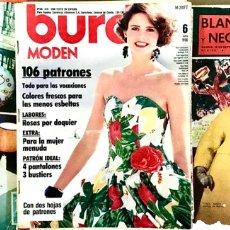 Coleccionismo de Revista Blanco y Negro: LOTE 3 REVISTAS BURDA MODEN PATRONES LABORES DEL HOGAR BLANCO Y NEGRO MODA PARIS AÑOS 80 - 90 1988. Lote 270137323