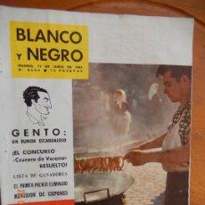 Coleccionismo de Revista Blanco y Negro: BLANCO Y NEGRO Nº 2563-17 DE JUNIO 1961_VERVENA DE SAN ANTONIO. GENTO, UN RUMOR ESCANDALOSO. Lote 270175308