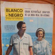 Coleccionismo de Revista Blanco y Negro: BLANCO Y NEGRO Nº 2734 -26-09-1964- GRAN REPORTAJE GRÁFICO LA BODA REAL EN ATENAS. Lote 270175988