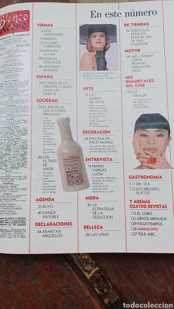 Coleccionismo de Revista Blanco y Negro: REVISTA BLANCO Y NEGRO 1989. SUMARIO. DANZA INVISIBLE - ENTREVISTA MARIO VARGAS LLOSA. - Foto 2 - 274811263