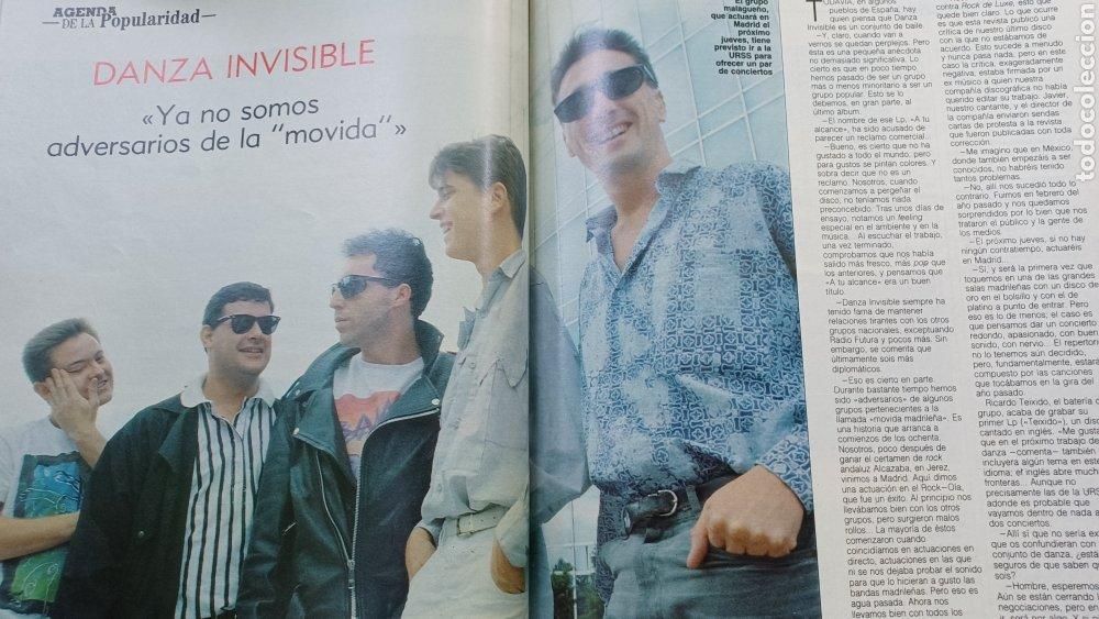 Coleccionismo de Revista Blanco y Negro: REVISTA BLANCO Y NEGRO 1989. SUMARIO. DANZA INVISIBLE - ENTREVISTA MARIO VARGAS LLOSA. - Foto 3 - 274811263