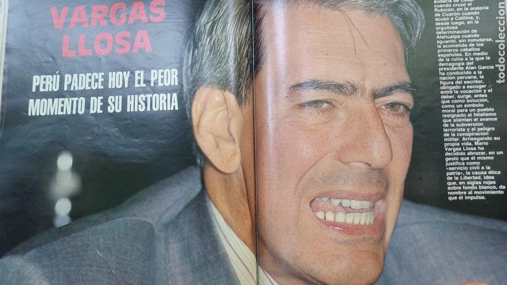 Coleccionismo de Revista Blanco y Negro: REVISTA BLANCO Y NEGRO 1989. SUMARIO. DANZA INVISIBLE - ENTREVISTA MARIO VARGAS LLOSA. - Foto 4 - 274811263