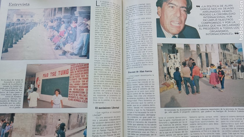Coleccionismo de Revista Blanco y Negro: REVISTA BLANCO Y NEGRO 1989. SUMARIO. DANZA INVISIBLE - ENTREVISTA MARIO VARGAS LLOSA. - Foto 5 - 274811263