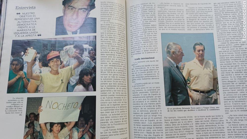 Coleccionismo de Revista Blanco y Negro: REVISTA BLANCO Y NEGRO 1989. SUMARIO. DANZA INVISIBLE - ENTREVISTA MARIO VARGAS LLOSA. - Foto 6 - 274811263